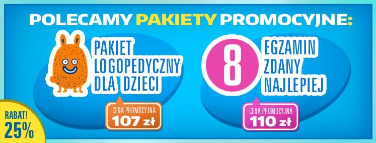 Polecamy pakiety promocyjne: Pakiet logopedyczny - Egzamin ósmoklasisty